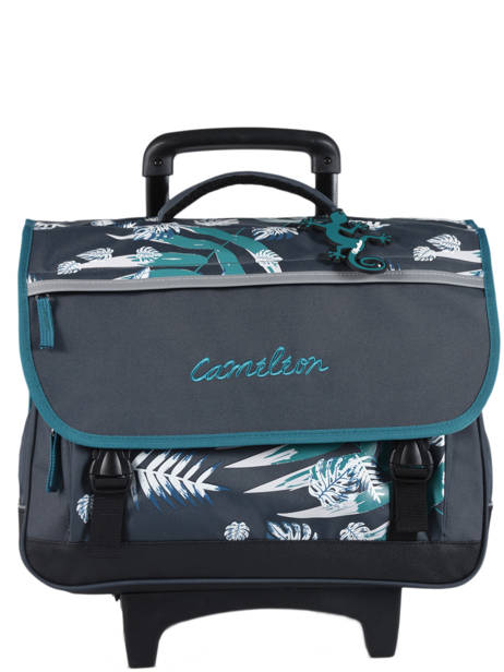 Wheeled Schoolbag For Kids 3 Compartments Cameleon Blue basic BAS-CR41