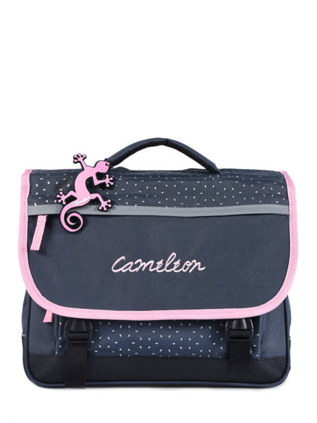 Cartable Enfant 2 Compartiments Cameleon Bleu basic BAS-CA35