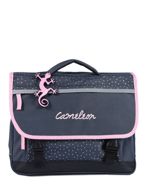 Satchel 2 Compartments Cameleon Blue basic BAS-CA38