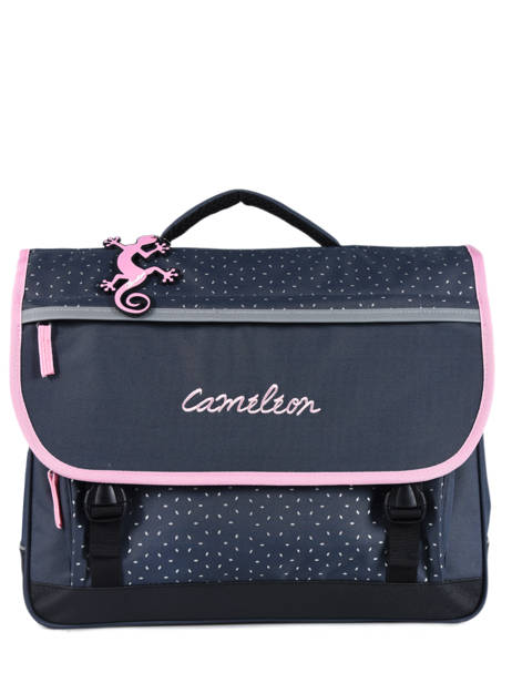 Satchel 3 Compartments Cameleon Blue basic BAS-CA41