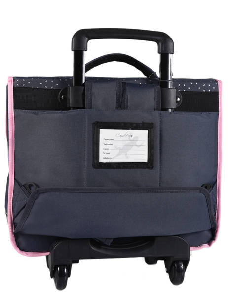 Cartable à Roulettes Enfant 3 Compartiments Cameleon Bleu basic BAS-CR41 vue secondaire 4