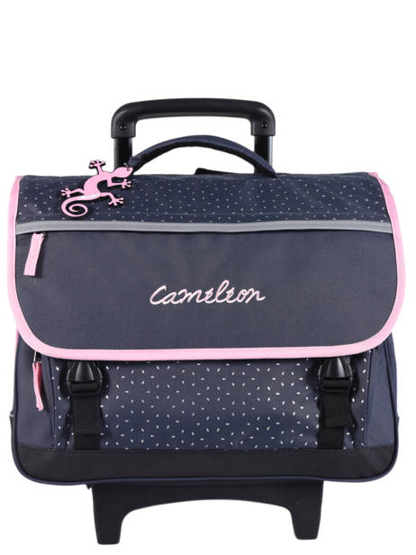 Cartable à Roulettes Enfant 3 Compartiments Cameleon Bleu basic BAS-CR41
