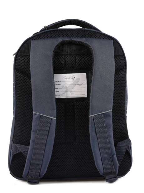 Backpack For Kids 2 Compartments Cameleon Blue basic BAS-SD43 other view 3