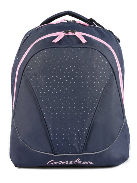 Backpack For Kids 2 Compartments Cameleon Blue basic BAS-SD43