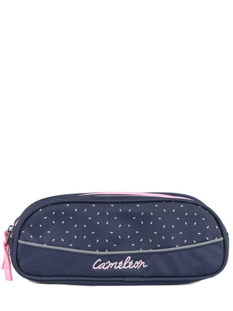 Pencil Case 2 Compartments Cameleon Blue basic BAS-TROU