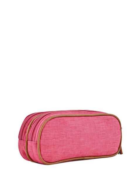 Pencil Case For Kids 2 Compartments Cameleon Pink vintage chine VIN-TROU other view 2