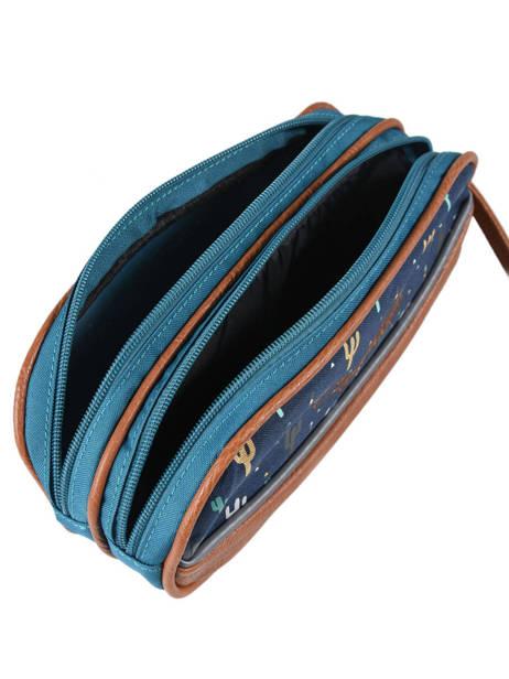 Pencil Case For Boy 2 Compartments Cameleon Blue vintage print boy VIB-TROU other view 3