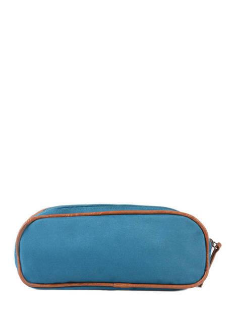 Pencil Case For Boy 2 Compartments Cameleon Blue vintage print boy VIB-TROU other view 2