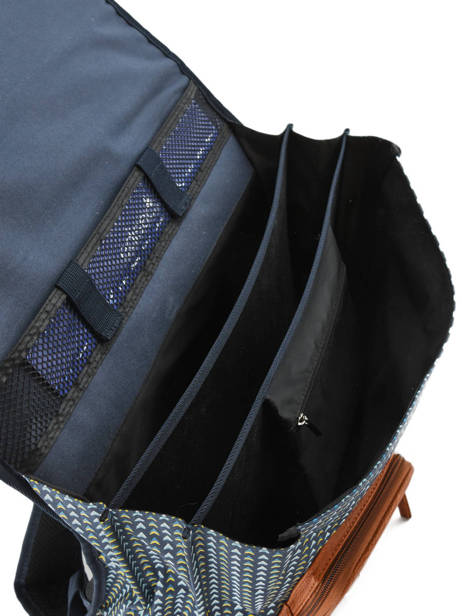 Satchel For Boys 3 Compartments Cameleon Black vintage print boy VIB-CA41 other view 5