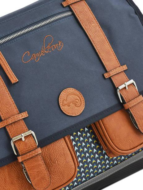 Satchel For Boys 3 Compartments Cameleon Black vintage print boy VIB-CA41 other view 1