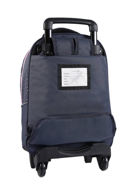 Wheeled Backpack For Kids 2 Compartments Cameleon Blue basic BAS-SR43 other view 4