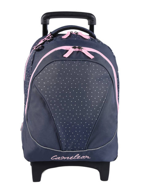 Wheeled Backpack For Kids 2 Compartments Cameleon Blue basic BAS-SR43