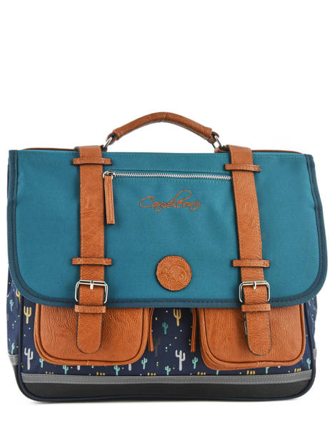 Satchel For Boys 3 Compartments Cameleon Blue vintage urban VIB-CA41