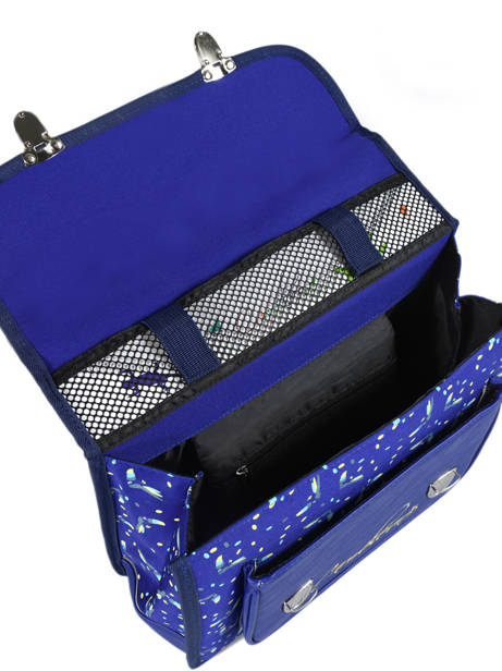 Satchel 1 Compartment Cameleon Blue retro RET-CA32 other view 5