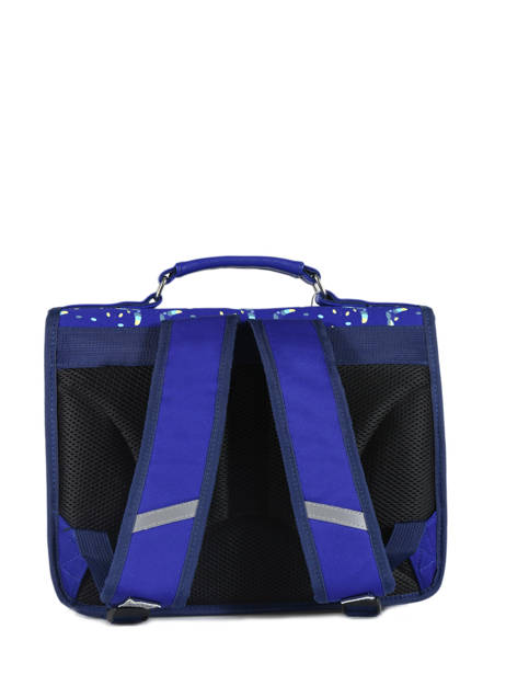 Satchel 1 Compartment Cameleon Blue retro RET-CA32 other view 4