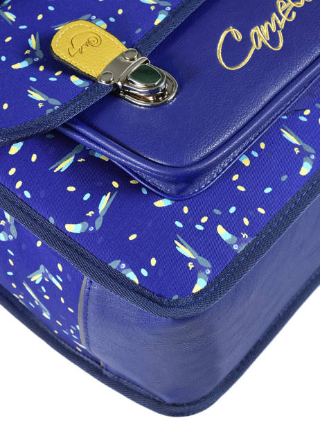 Satchel 1 Compartment Cameleon Blue retro RET-CA32 other view 1