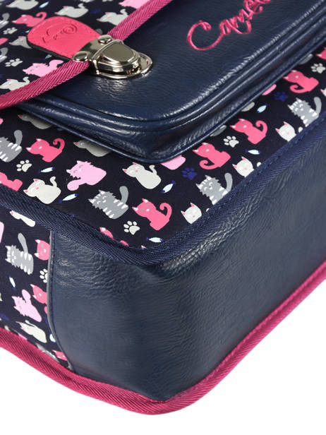 Satchel For Kids 2 Compartments Cameleon Blue retro RET-CA35 other view 2