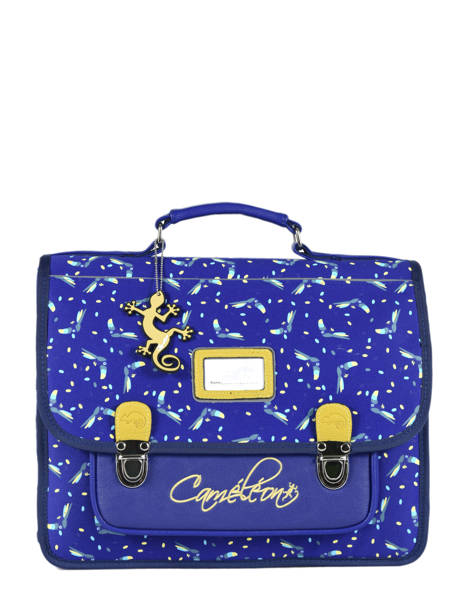 Satchel 2 Compartments Cameleon Blue retro RET-CA35
