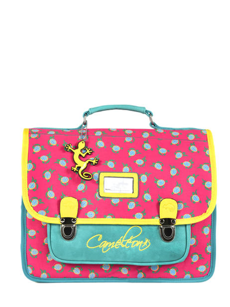 Satchel 2 Compartments Cameleon Pink retro RET-CA35