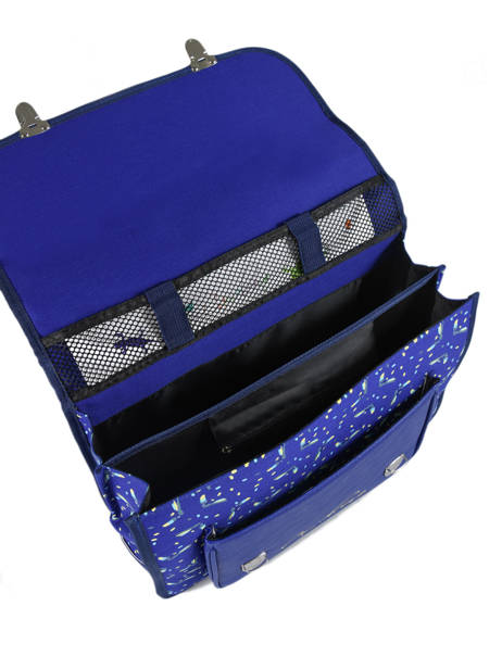Satchel For Kids 2 Compartments Cameleon Blue retro RET-CA38 other view 6
