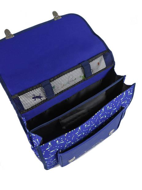 Cartable Enfant 2 Compartiments Cameleon Bleu retro RET-CA38 vue secondaire 6