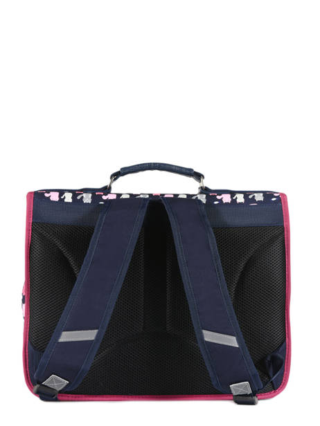Satchel For Kids 2 Compartments Cameleon Blue retro RET-CA38 other view 5