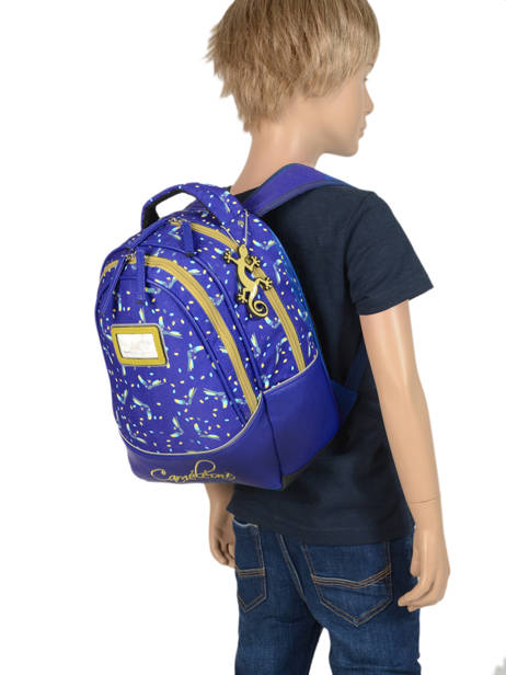 Backpack For Kids 2 Compartments Cameleon Blue retro RET-SD31 other view 2