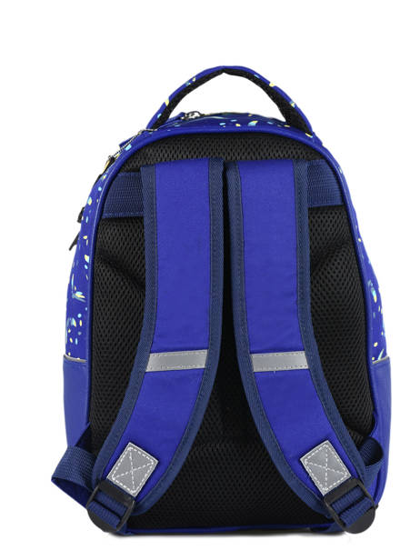 Backpack For Kids 2 Compartments Cameleon Blue retro RET-SD31 other view 4