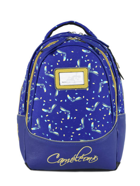Backpack 2 Compartments Cameleon Blue retro RET-SD31