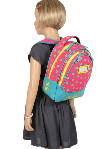 Backpack For Kids 2 Compartments Cameleon Pink retro RET-SD31 other view 2