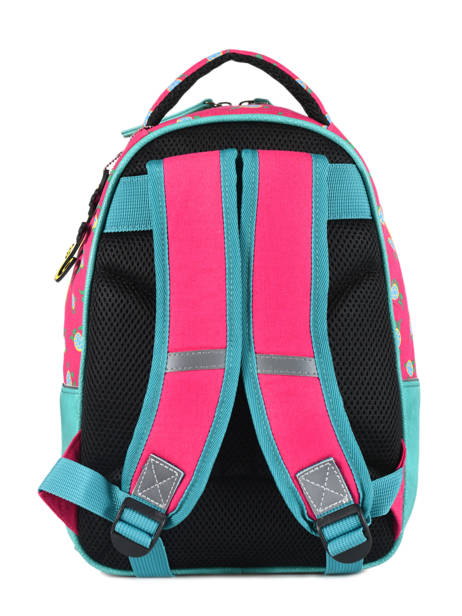 Backpack For Kids 2 Compartments Cameleon Pink retro RET-SD31 other view 4