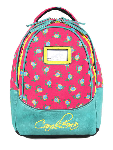 Backpack For Kids 2 Compartments Cameleon Pink retro RET-SD31