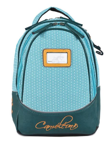 Backpack 2 Compartments Cameleon Black retro RET-SD31