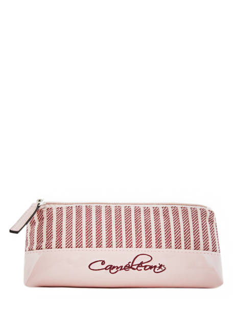 Pencil Case 1 Compartment Cameleon Pink retro vinyl REV-TROU