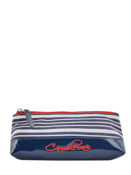 Pencil Case 1 Compartment Cameleon Blue retro vinyl REV-TROU