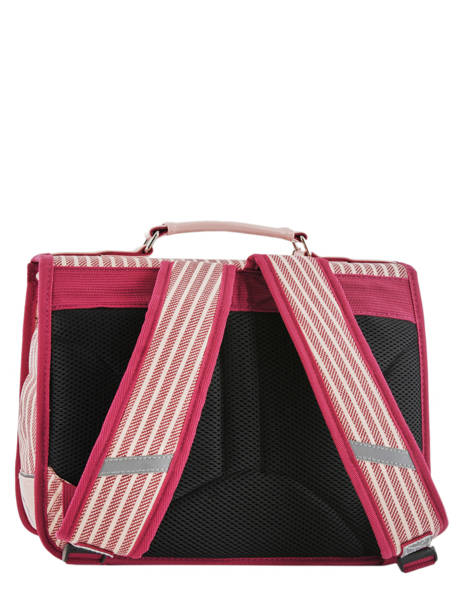 Satchel For Kids 1 Compartment Cameleon Pink retro vinyl REV-CA32 other view 5