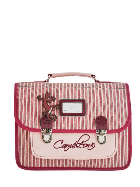 Cartable Enfant 1 Compartiment Cameleon Rose retro vinyl REV-CA32