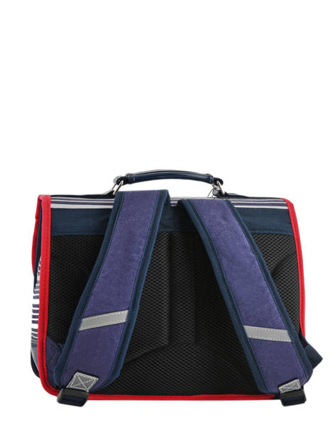 Satchel For Kids 1 Compartment Cameleon Blue retro vinyl REV-CA32 other view 4