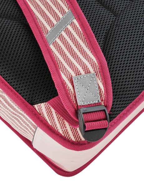 Satchel For Kids 2 Compartments Cameleon Pink retro vinyl REV-CA35 other view 2