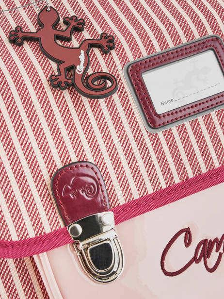 Cartable Enfant 2 Compartiments Cameleon Rose retro vinyl REV-CA35 vue secondaire 1