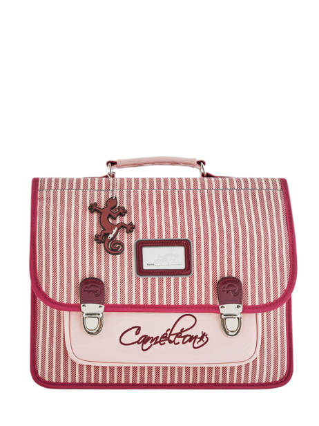Satchel For Kids 2 Compartments Cameleon Pink retro vinyl REV-CA35