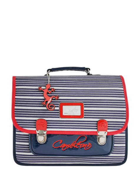 Cartable Enfant 2 Compartiments Cameleon Bleu retro REV-CA35