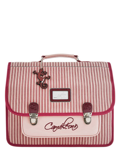 Satchel 2 Compartments Cameleon Pink retro vinyl REV-CA38