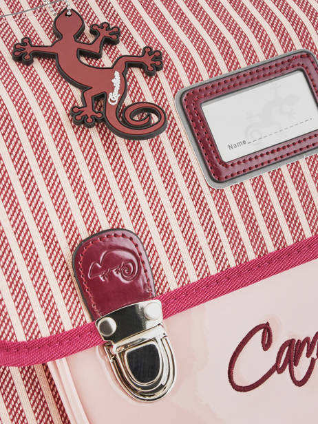 Cartable 2 Compartiments Cameleon Rose retro vinyl REV-CA38 vue secondaire 1