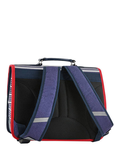 Satchel 2 Compartments Cameleon Blue retro vinyl REV-CA38 other view 4