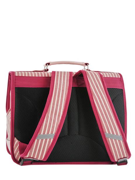 Cartable 2 Compartiments Cameleon Rose retro vinyl REV-CA38 vue secondaire 4