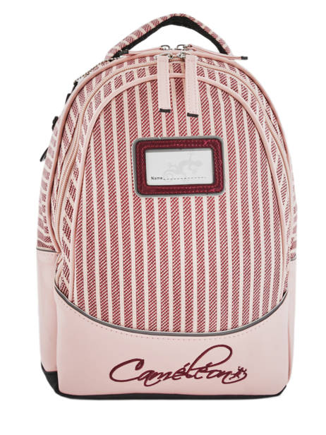 Sac à Dos Enfant 2 Compartiments Cameleon Rose retro vinyl REV-SD31