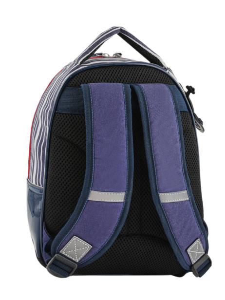 Backpack For Kids 2 Compartments Cameleon Blue retro vinyl REV-SD31 other view 4