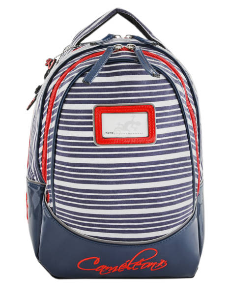 Backpack 2 Compartments Cameleon Blue retro vinyl REV-SD31