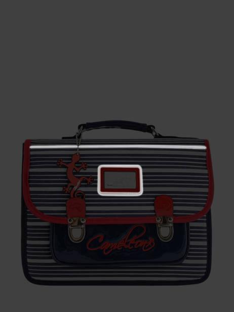 Satchel For Kids 1 Compartment Cameleon Blue retro vinyl REV-CA32 other view 7